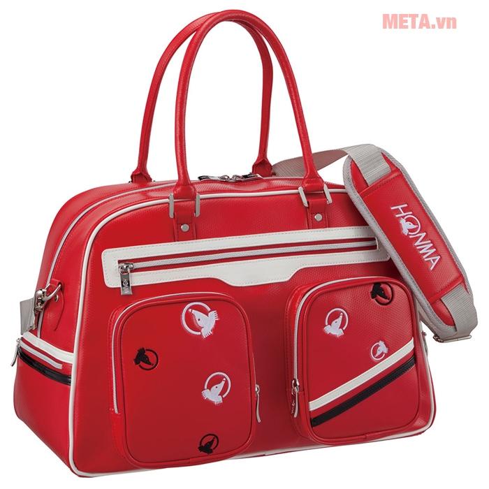 Túi golf nữ Honma boston bag BB-6707 màu đỏ
