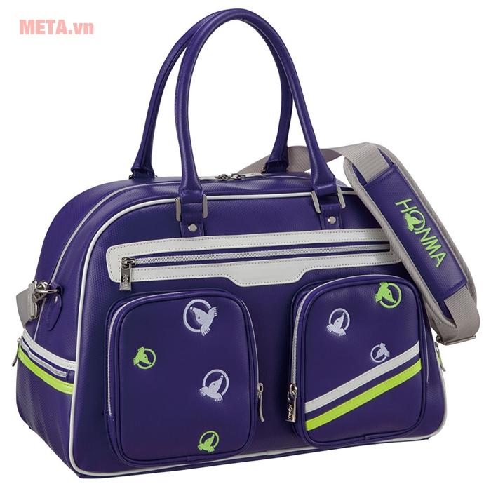 Túi golf nữ Honma boston bag BB-6707 màu tím