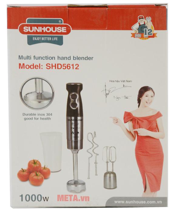 Máy xay cầm tay Sunhouse SHD5612 bảo quản trong hộp giấy