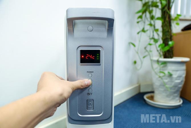 Máy sưởi dầu FujiE OFR4413 có nhiệt độ tối thiểu 24 độ C