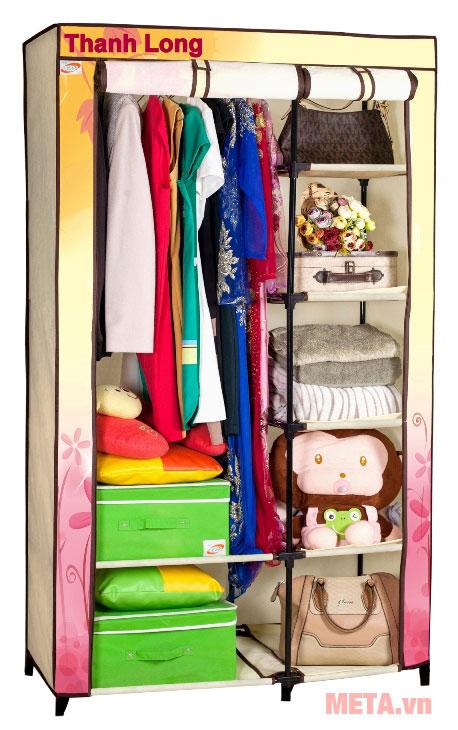 Tủ vải Thanh Long TVAI01 1m màu kem