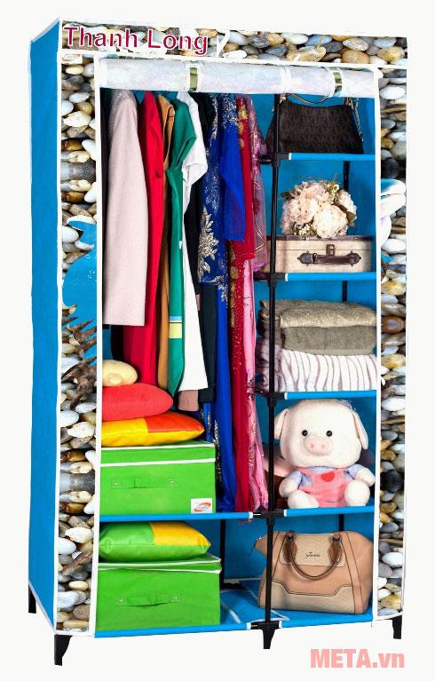 Tủ vải Thanh Long TVAI01 1m màu xanh biển