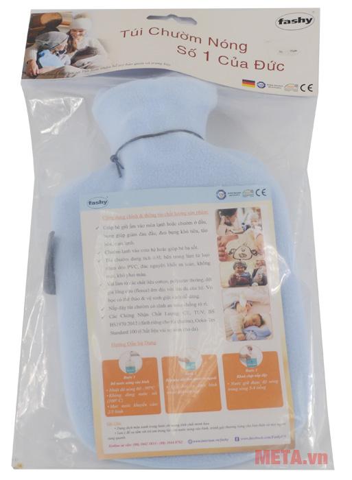 Túi chườm nóng lạnh bọc lông cừu trẻ em Fashy 6505-51 hàng chính hãng