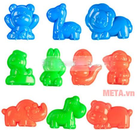 Cát tạo hình các loại thú Motion Sand MS36 có khuôn bằng nhựa cao cấp