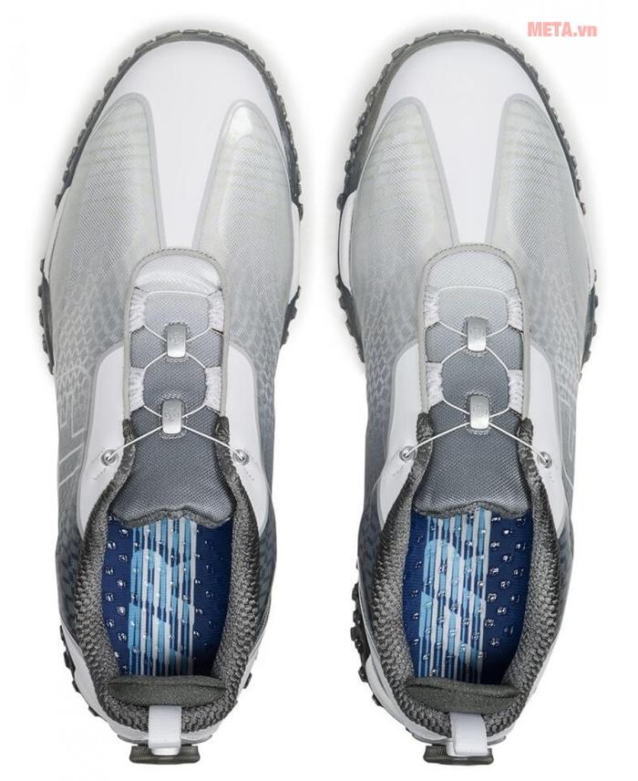 Giày golf nam Footjoy sử dụng chất liệu da tổng hợp, chống thấm nước