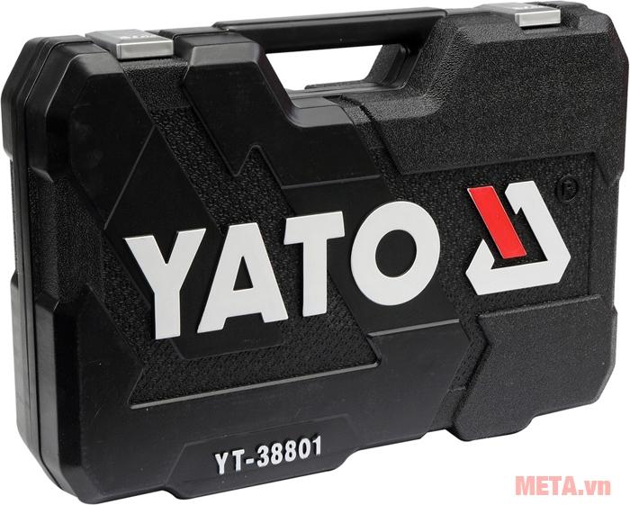 Bộ kìm tuýp cờ lê tay vặn tổng hợp Yato YT-38801 có logo trên hộp đựng