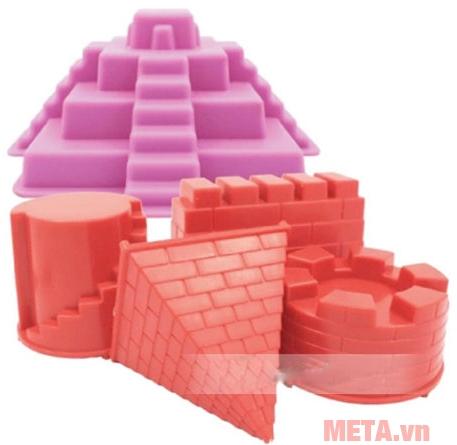 Đồ chơi cát tạo hình lâu đài Motion Sand MS01 có khuôn với màu nổi bật