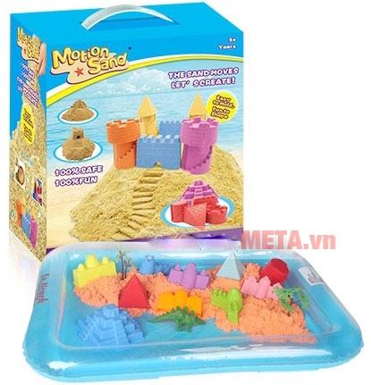 Đồ chơi cát tạo hình lâu đài Motion Sand MS01 đi kèm khuôn