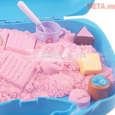 Đồ chơi cát tạo hình các loại bánh Motion Sand MS37 có cát màu hồng