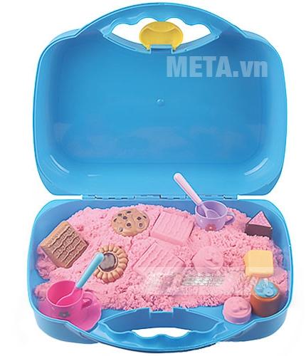 Đồ chơi cát tạo hình các loại bánh Motion Sand MS37 có hộp đựng nhựa