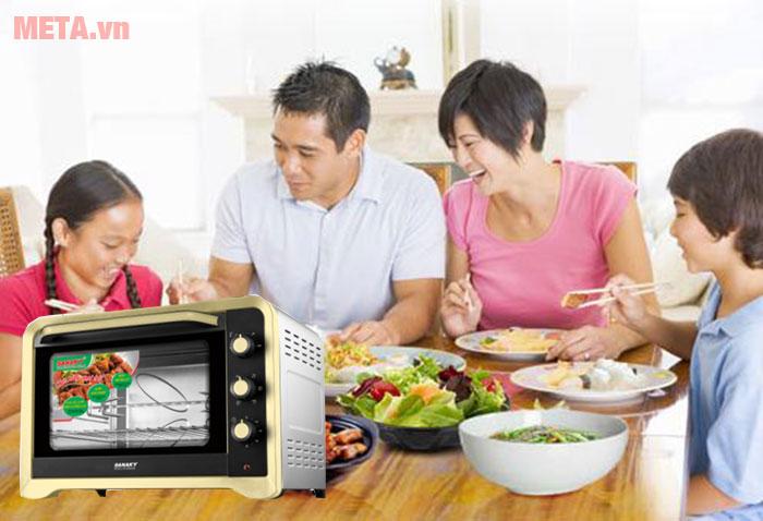 Lò nướng 80 lít Sanaky VH-809N2D dễ sử dụng
