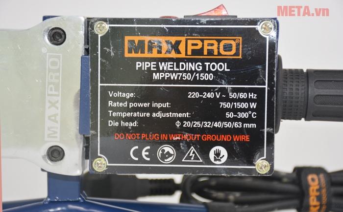 Maxpro MPPW750/1500 là công cụ chuyên dụng để hàn ống nước