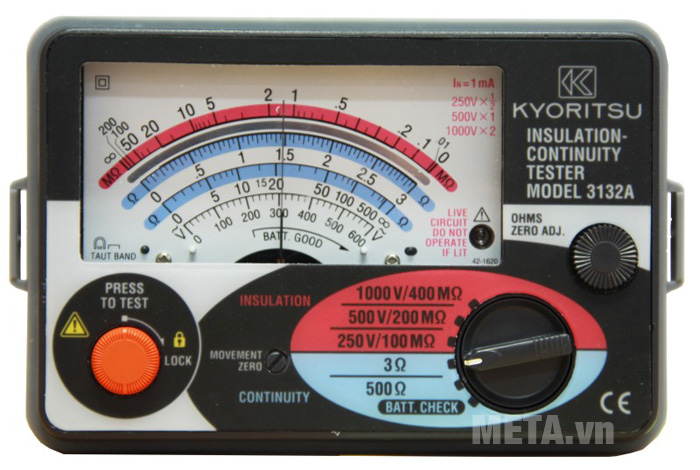 Đồng hồ đo điện trở cách điện Kyoritsu 3132A dành cho thợ điện
