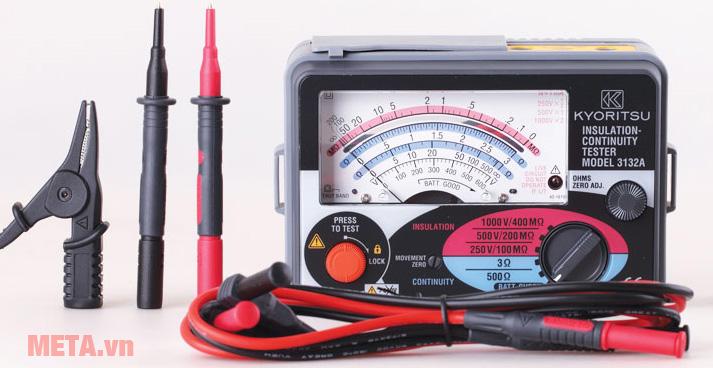 Đồng hồ đo điện trở cách điện Kyoritsu 3132A cho kết quả đo điện áp chính xác