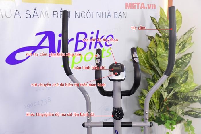 Các chi tiết về xe đạp tập liên hoàn