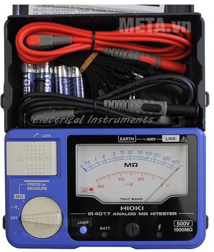 Đồng hồ đo điện trở cách điện Hioki IR4017-20 dùng đo điện áp và điện trở