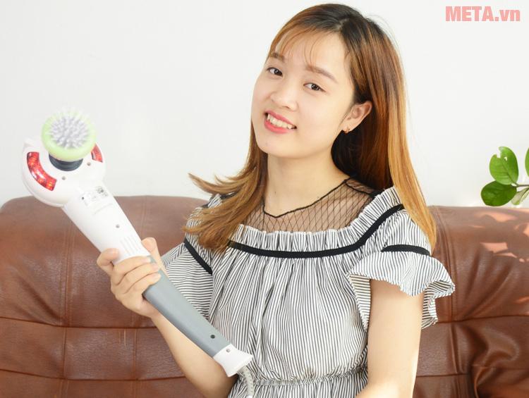 Máy massage cầm tay Buheung MK-208 NEW có đèn hồng ngoại giúp tăng hiệu quả giảm đau mỏi
