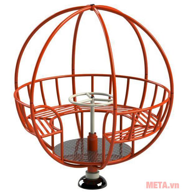 Đu quay quả địa cầu Vifa Sport NIK734446 thiết kế rất chắc chắn cực kỳ an toàn đối với trẻ.