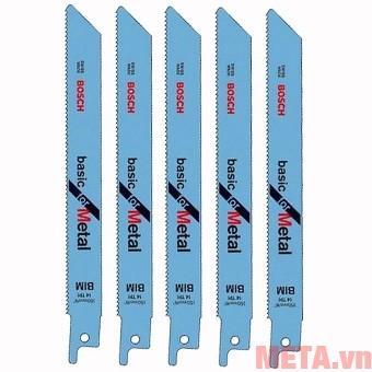 Bộ 5 lưỡi cưa kiếm Bosch S1122BF 2608656019 thiết kế nhỏ gọn lắp vào máy cưa kiếm dễ dàng