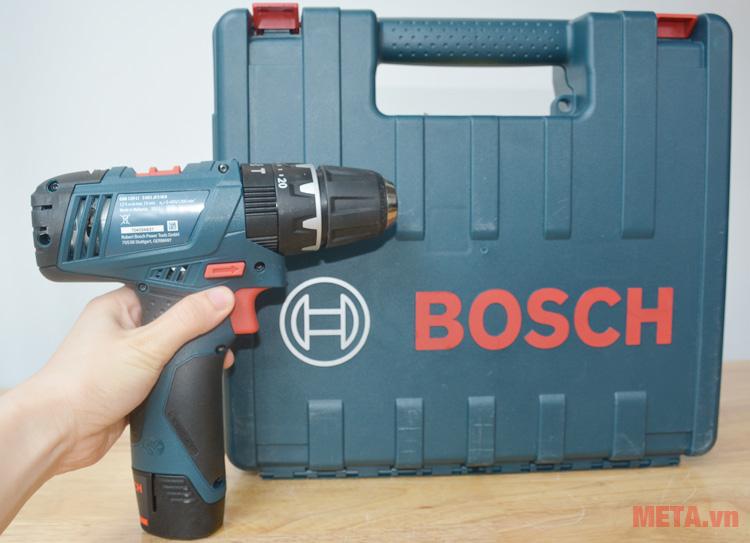Bộ sản phẩm máy khoan vặn vít động lực dùng pin Bosch GSB 120-LIBộ sản phẩm máy khoan vặn vít động lực dùng pin Bosch GSB 120-LI