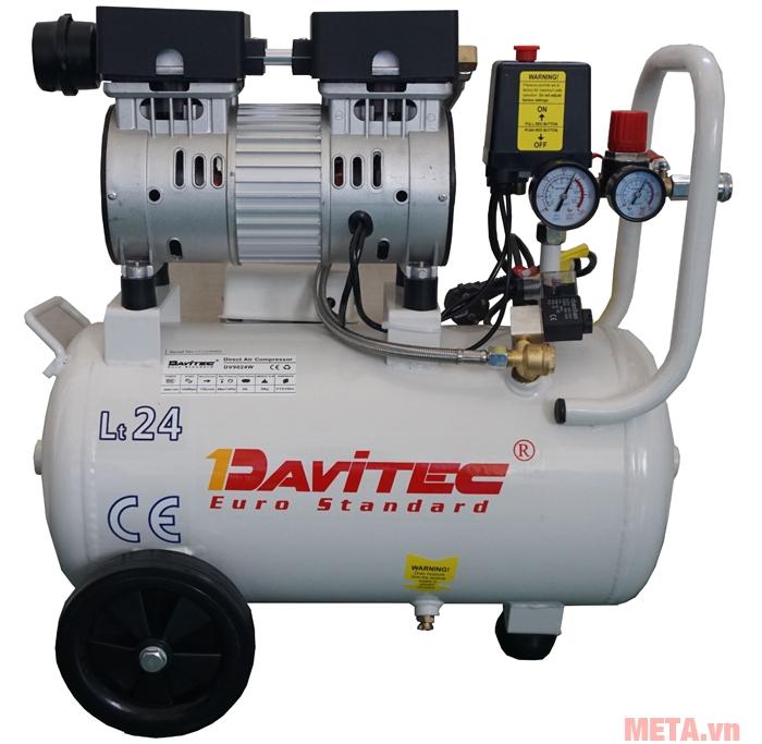Máy nén khí Davitec DV9100 có thời gian nạp khí cực nhanh