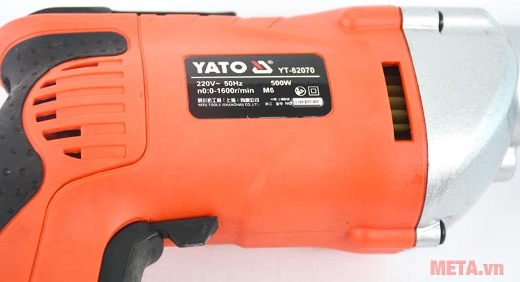 Thông số kỹ thuật của máy vặn vít dùng điện Yato YT-82070