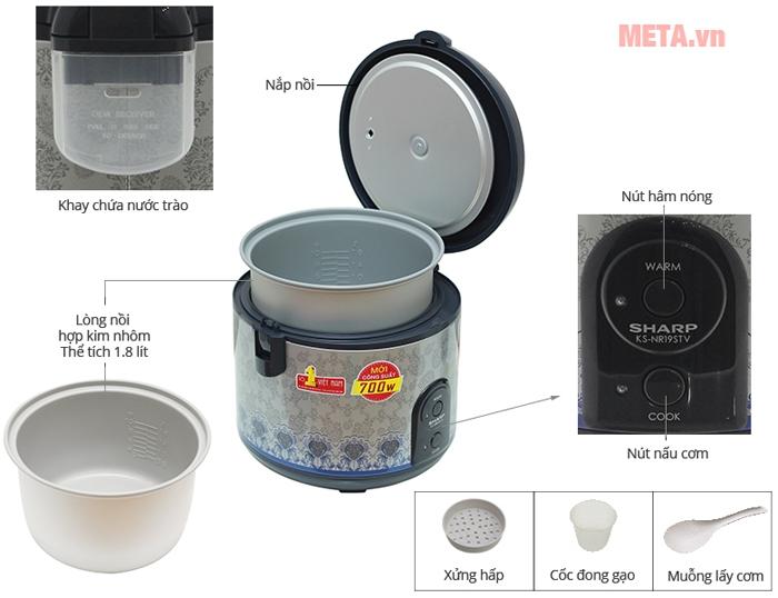 Thông tin chi tiết về nồi cơm điện Sharp