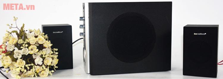Loa vi tính SoundMax A820 2.1 hoạt động với công suất 25W