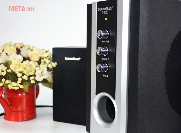 Loa vi tính SoundMax A820 2.1 có dải tần số loa siêu trầm (45Hz - 150Hz)
