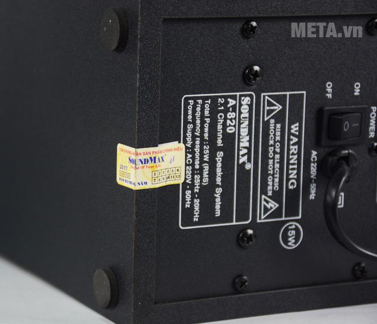 Loa vi tính SoundMax A820 2.1 là sản phẩm chính hãng