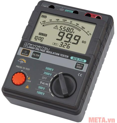 Đồng hồ đo điện trở cách điện Kyoritsu 3126 có khả năng đo điện áp AC/DC từ 30V - 600V