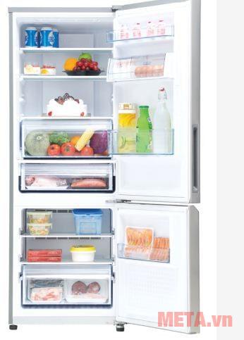 Tủ lạnh Panasonic NR-BV329QSVN có thiết kế tiện lợi