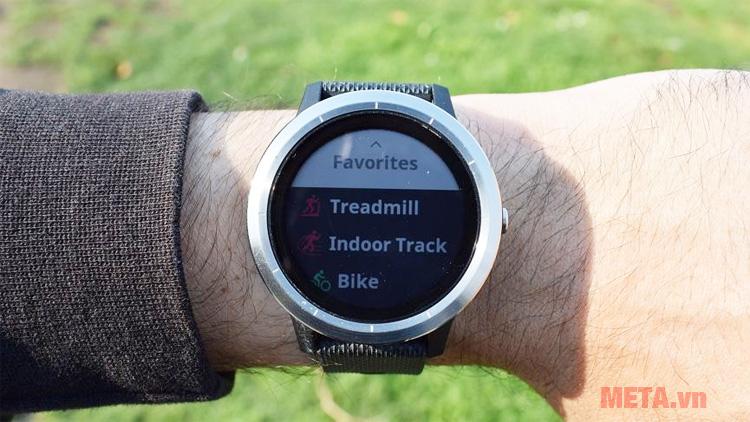 Đồng hồ Vivoactive 3 hỗ trợ bạn luyện tập nhiều môn thể thao cả trong nhà và ngoài trời