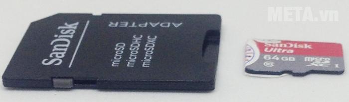 Thẻ nhớ SDXC là chuẩn thẻ mở rộng từ SD với dung lượng hỗ trợ lên tới 64Gb