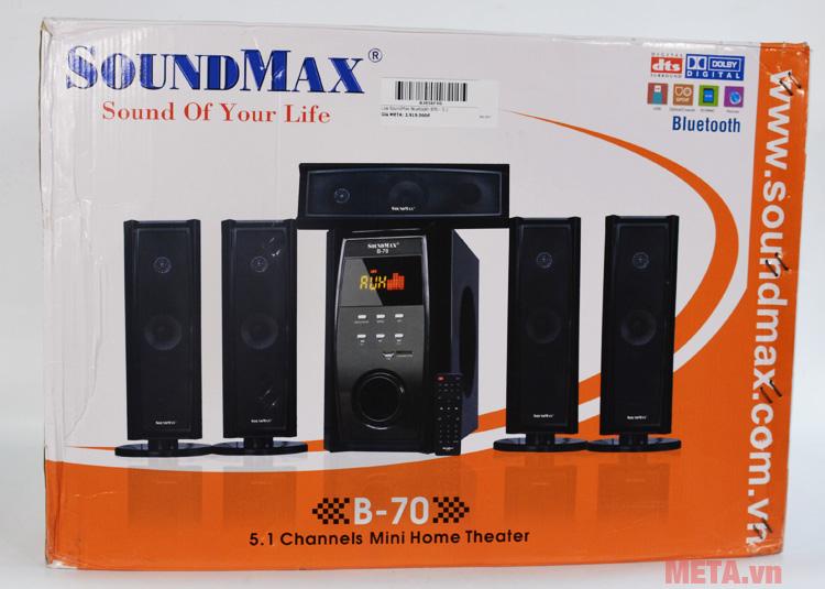 Hộp đựng loa bluetooth SoundMax bluetooth B70 - 5.1