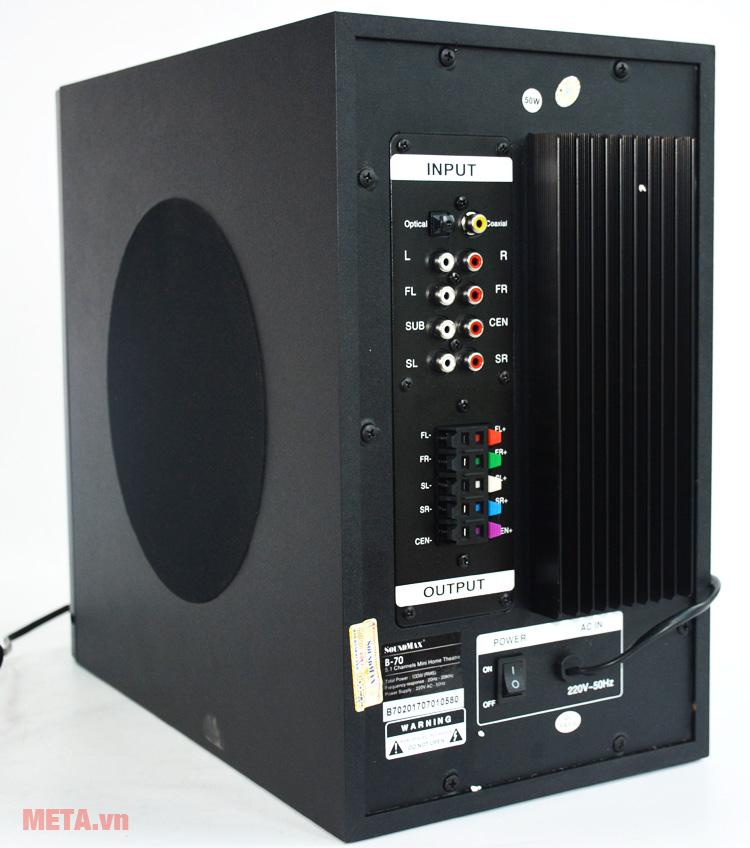 Jack cắm đầu vào các thiết bị điện tử của loa bluetooth SoundMax bluetooth B70 - 5.1