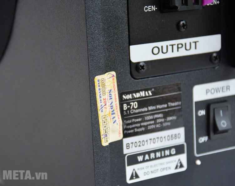 Loa bluetooth SoundMax bluetooth B70 - 5.1 tại META.vn có tem chống hàng giả
