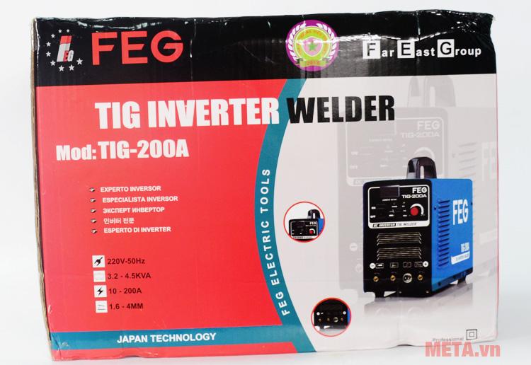 Hộp đựng máy hàn inox, que FEG TIG 200A