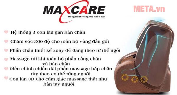 Những tính năng đặc biệt của ghế massage chân Max-646 Plus