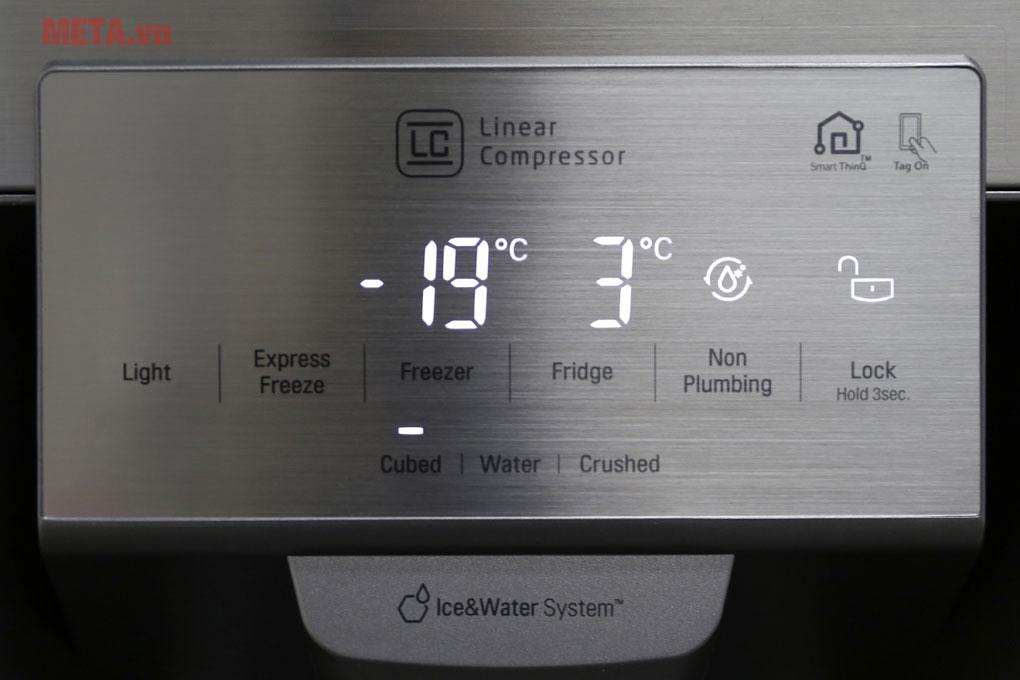Bảng điều khiển của tủ lạnh