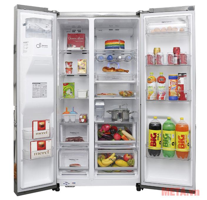Tủ lạnh Aqua side by side