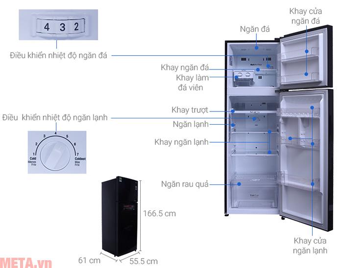 Cấu tạo tủ lạnh LG