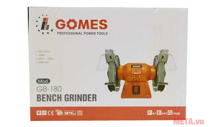 Hộp đựng máy mài hai đá Gomes GB180