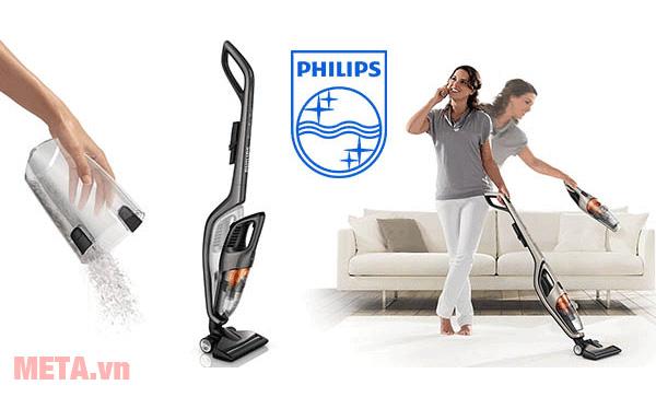 Máy hút bụi cầm tay Philips FC6168/01 giúp các bà nội trợ trong công việc nhà