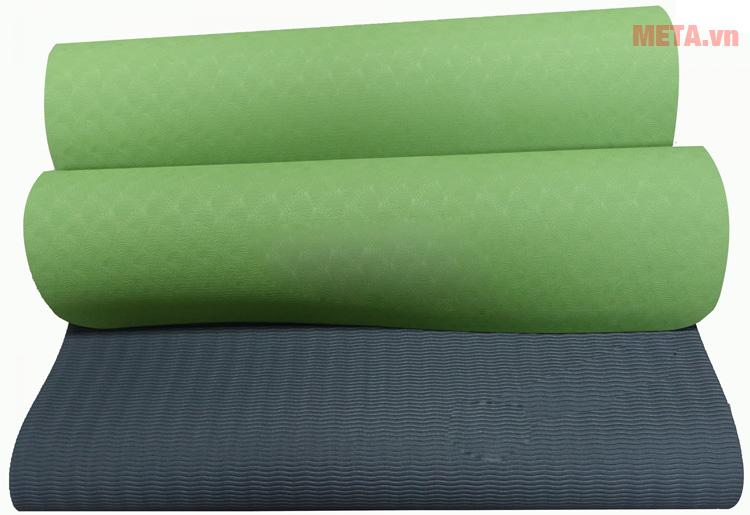 Thảm yoga Vinsa 6 ly màu xanh