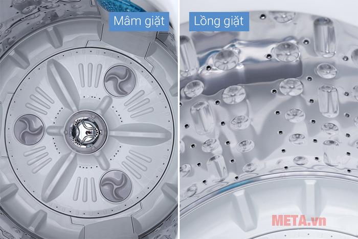 Mâm giặt và lồng giặt được làm từ chất liệu thép không gỉ