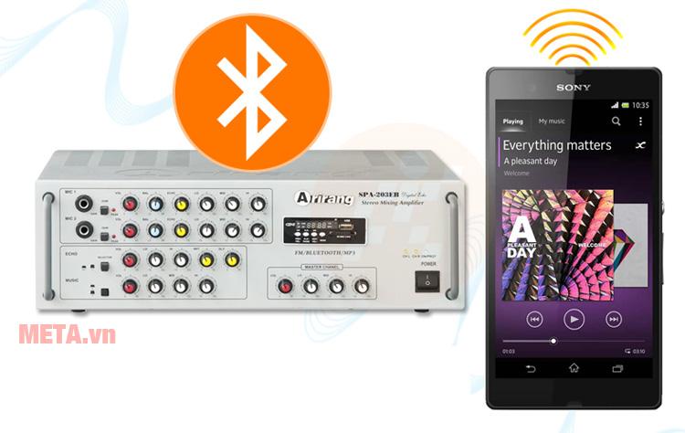 Amply Ariang có khả năng kết nối bluetooth tiện ích qua smartphone