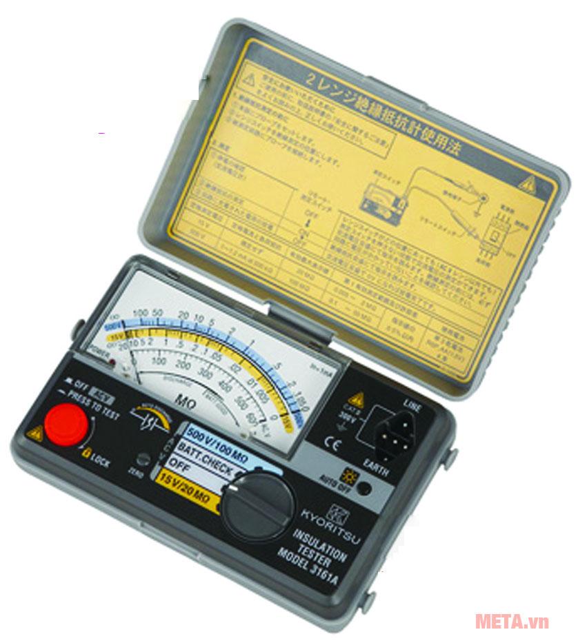 Đồng hồ đo điện trở cách điện Kyoritsu 3161A thiết kế nhỏ gọn