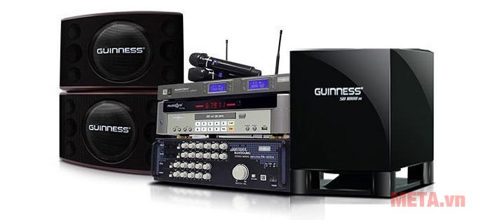 Loa sub Guinness SB-1800III có khả năng kết hợp với các thiết bị âm thanh khác