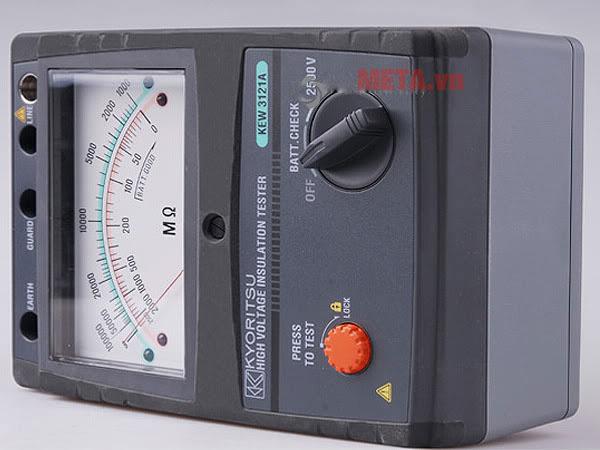 Đồng hồ đo điện trở dễ dàng sử dụng